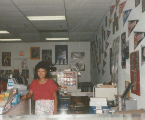 Rose in new Fort Walton Beach Comic store 1987